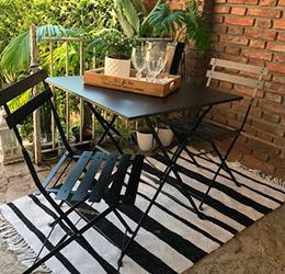 producto muebles exterior set balcony chapa